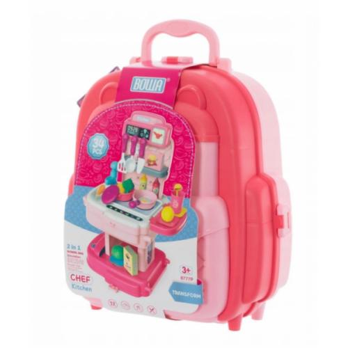 Euro Baby Detský kufríkový batoh - Kuchynka, 2v1