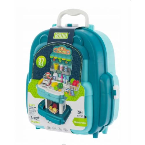 Euro Baby Detský kufríkový batoh - Obchod, 2v1