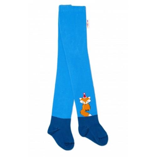 Baby Nellys Detské pančuchy bavlnené Fox, jeans-modrá, 1ks, veľ. 80/86 - 80/86