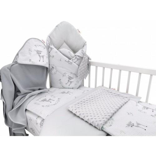 Baby Nellys 6-dielna výhod. súprava pre bábätko s darčekom,135x100, Koloušek ružový/mäta - 135x100