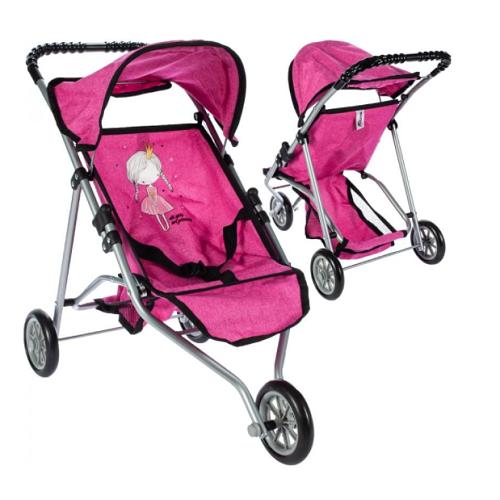 Športový kočík pre bábiky Princess - ružový
