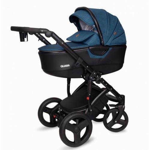 Kočík Coto Baby 2 v 1 QUARA Eco 2021 - Len Turkus dark Eco