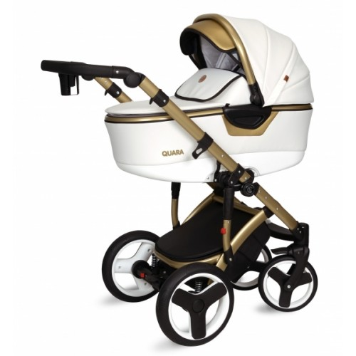 Kočík Coto Baby 2 v 1 QUARA 2021 - white, gold