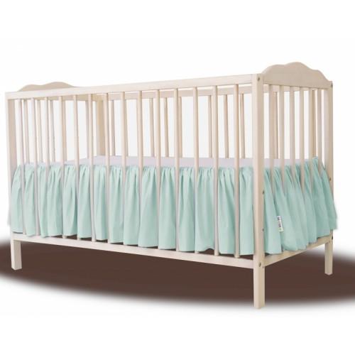 Baby Nellys Bavlnený volánik pod matrac - mátová - 120x60