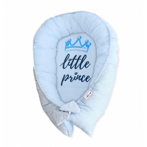 Baby Nellys Obojstranné hniezdočko, kokon Little Prince - modré