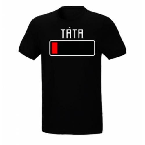 DEJNA Tričko s potlačou Táta - vybitá batéria, veľ. XL