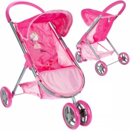 Tulimi Športový kočík pre bábiky Princezná - ružový