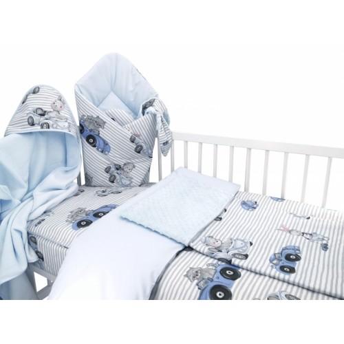 Baby Nellys 6-dielna výhod. súprava pre bábätko s darčekom,120 x 90, Baby Car, modrá - 120x90