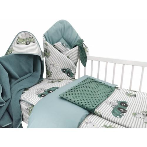 Baby Nellys 6-dielna výhod. súprava pre bábätko s darčekom,135 x 100, Baby Car, zelená - 135x100