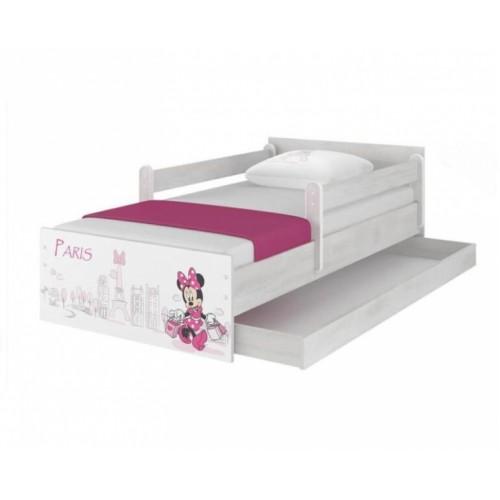 BabyBoo Detská junior posteľ Disney 180x90cm - Minnie Paris - 180x90