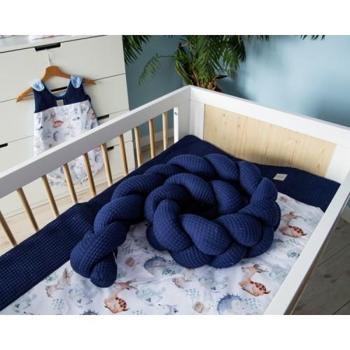 Baby Nellys Mantinel pletený vrkoč Vafel, Les - 160x16