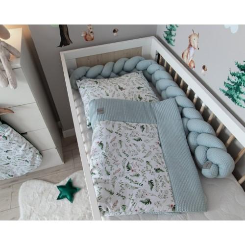 Baby Nellys 2-dielna súpr. do kočíka, kolísky, hniezdočka, Vafel, 3v1, bavlna LUX,Papradie