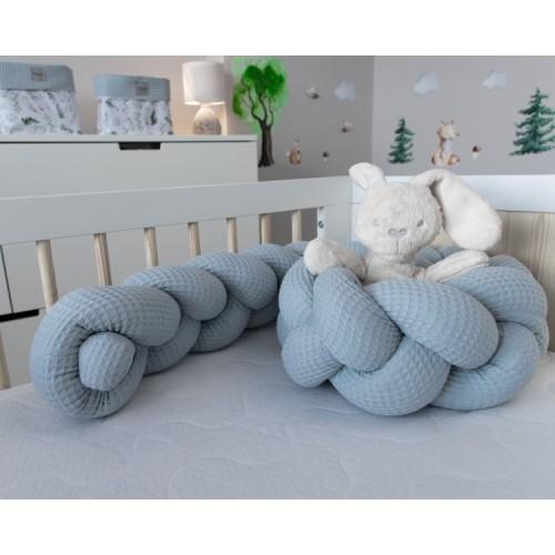 Baby Nellys Mantinel pletený vrkoč Vafel, Papradie - 160x16