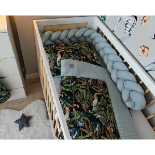 Baby Nellys 2-dielna súprava do postielky -Vafel, bavlna LUX, Papagaj, 135 x 100 cm - 135x100