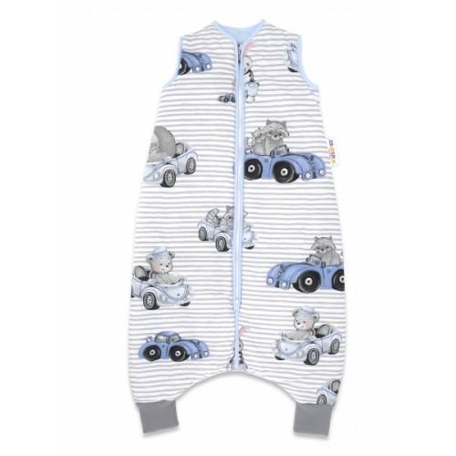 Baby Nellys, Spací vak s nohavičkami Baby Car, 90 cm - modrá