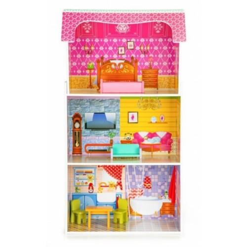 Drevený domček pre bábiky ECO TOYS - Slunečná rezidencie