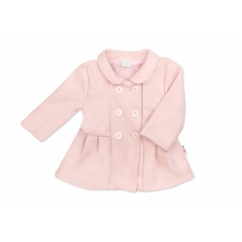 Baby Nellys Kojenecký flaušový kabátik, púdrovo ružový, veľ. 68 - 68 (4-6m)