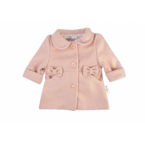 Baby Nellys Kojenecký flaušový kabátik, púdrovo ružový, veľ. 74 - 74 (6-9m)