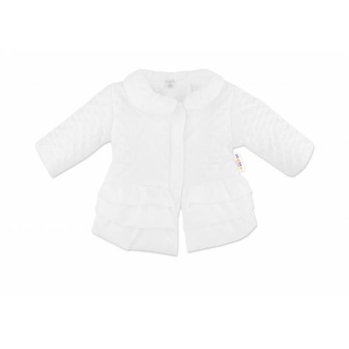 Baby Nellys Dojčenská prechodová bundička s volánikmi, biela, veľ. 62 - 62 (2-3m)