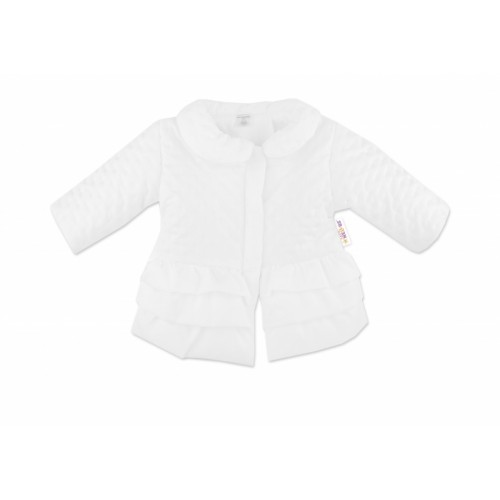 Baby Nellys Dojčenská prechodová bundička s volánikmi, biela, veľ. 68 - 68 (3-6m)
