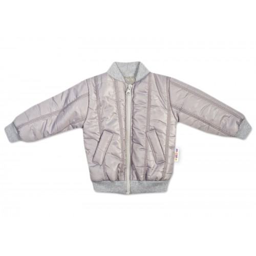 Baby Nellys Detská prešívaná prechodová bunda, sivá, veľ. 80 - 80 (9-12m)