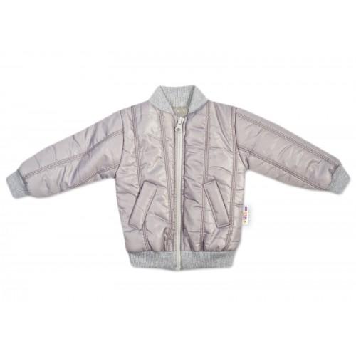 Baby Nellys Detská prešívaná prechodová bunda, sivá, veľ. 92 - 92 (18-24m)