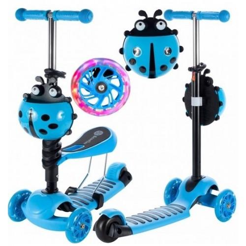 Tulimi Detská kolobežka 2v1 Ladybird, modrá