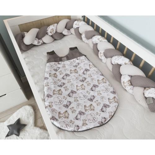 Baby Nellys Spací vak Vafel, bavlna LUX, Safari - 0/6 měsíců