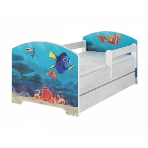 Babyboo Detská posteľ 140 x 70 cm - Dorry so šuflíkom - 140x70