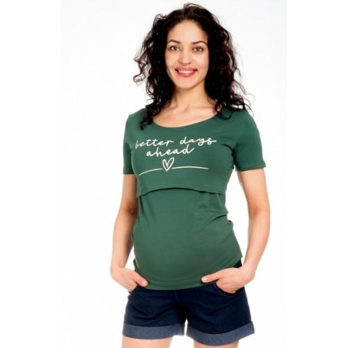 Be MaaMaa Tehotenské kraťasy Jeans - granát, veľ. M - M (38)