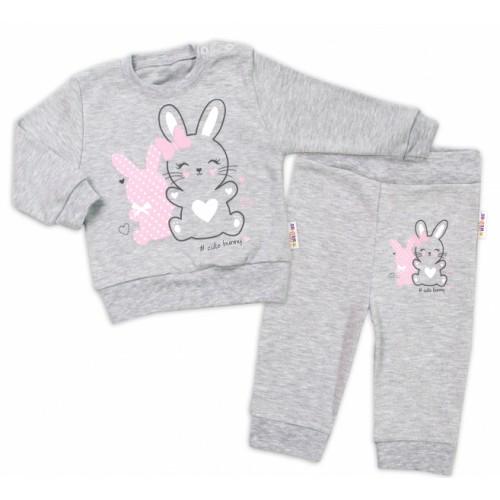 Baby Nellys Detská tepláková súprava Cute Bunny - sivá, veľ. 92 - 92 (18-24m)
