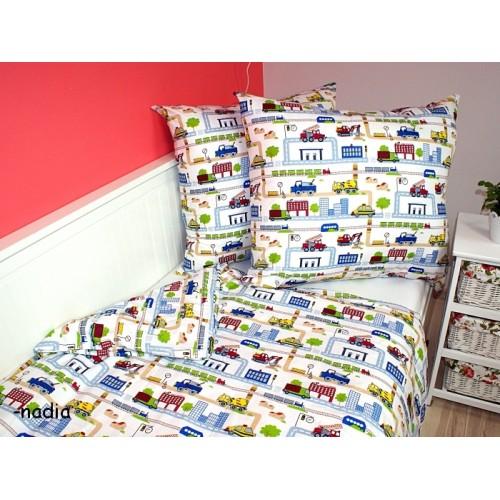 Baby Nellys Bavlněné obliečky 140 x 200, 70 x 80 cm - Ruže, biela - 140x200/70x80cm