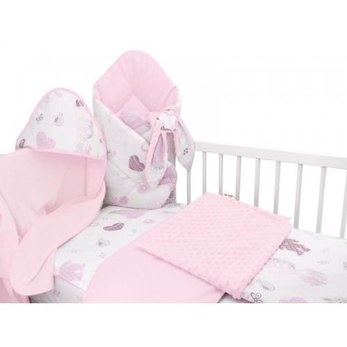 Baby Nellys 6-dielna výhod. súprava pre bábätko s darčekom,120 x 90, New Love Baby, růžová - 120x90