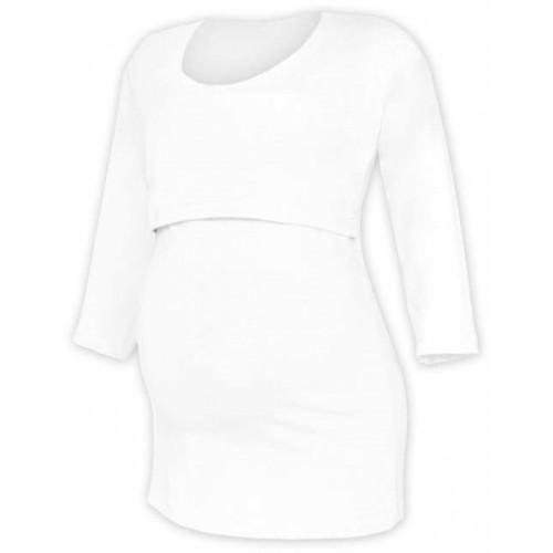 JOŽÁNEK Tehotenské tričko 3/4 rukáv Kateřina - biele, vel. L/XL - L/XL