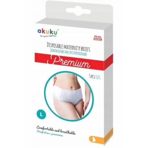 Akuku Jednorazové popôrodné nohavičky Premium - 5ks v balení, veľ. L