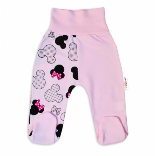 Baby Nellys Bavlnené dojčenské polodupačky Minnie - sv. ružová, veľ. 74 - 74 (6-9m)