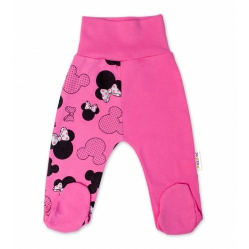 Baby Nellys Bavlnené dojčenské polodupačky Minnie - ružová , veľ. 68 - 68 (4-6m)