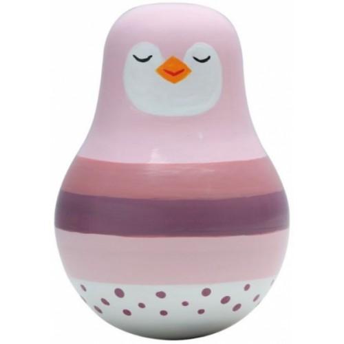 Magni Balančné hračka Roly poly, Tučniak -ružová