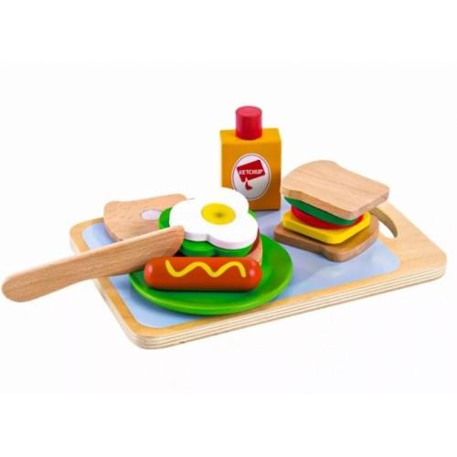 Eco Toys Drevená sada - Raňajky