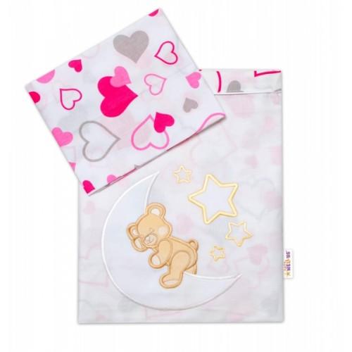 Baby Nellys  2-dielna sada obliečok do postieľky, dievčenské farby, rôzne výši, 135x100 cm - 135x100
