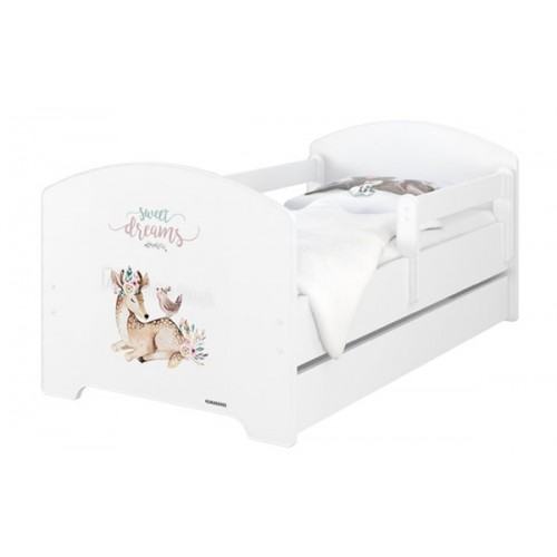 Babyboo Detská posteľ 140 x 70 cm - Sweet Dreams + šuplík - 140x70