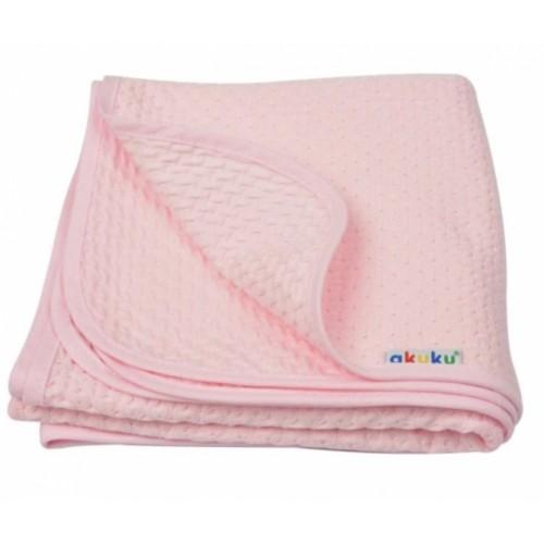 Akuku Detská bavlnená deka, 80x90 cm, ružová