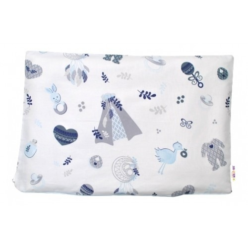 Baby Nellys Povlak na vankúšik New Love Baby, 40x60 cm - modrá