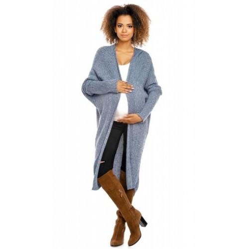 Be MaaMaa Dlhý pletený tehotenský kardigan - jeans - UNI