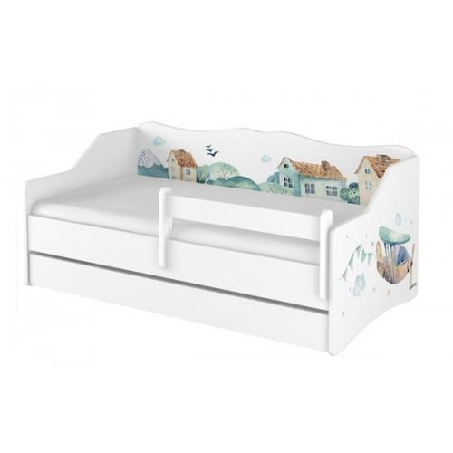 Babyboo Detská posteľ LULU 160 x 80 - Lietadlo - 160x80