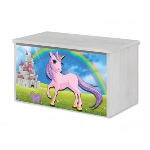 Babyboo Box na hračky s motívom Unicorn