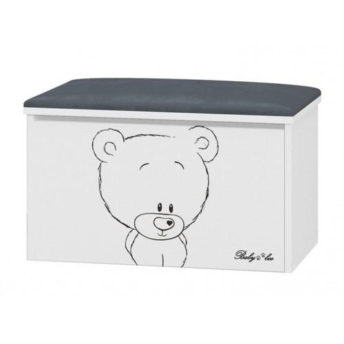 Babyboo Box na hračky s motívom Macko