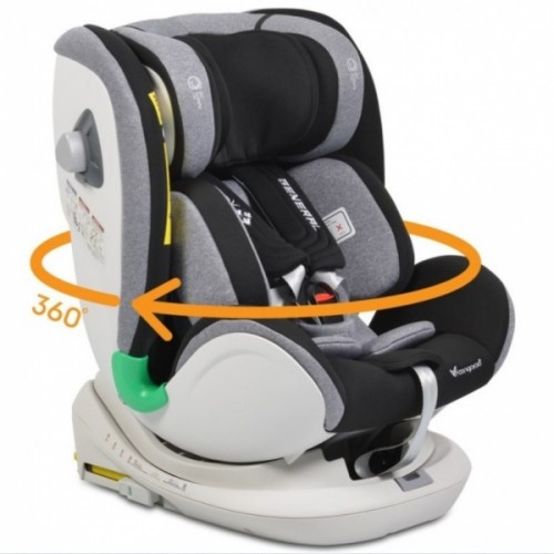 Cangaroo Autosedačka 0 - 36 kg Isofix General s 360 ° otáčaním - sivá