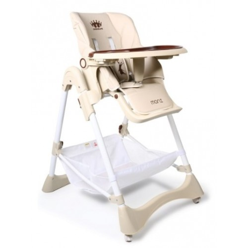 Cangaroo Detská jedálenská stolička Chocolate - béžová