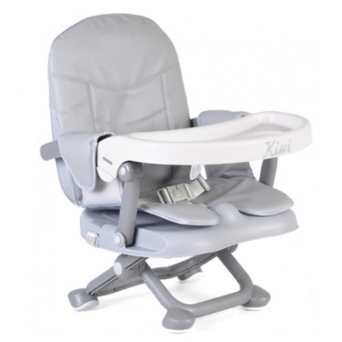 Cangaroo Detská jedálenská stolička Kiwi- sivá